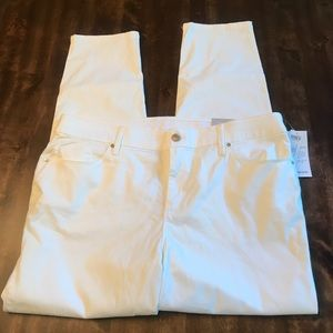 CHICO'S White Skinny Jeggings Jeans Size 16